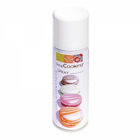 Bombe spray argent alimentaire 125ml SCRAPCOOKING
