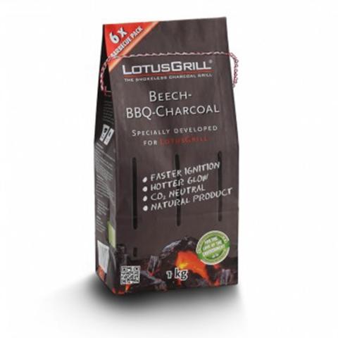 Sac de Charbon de Hêtre 1kg pour Barbecue LotusGrill