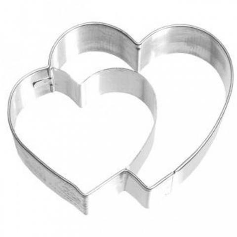 Emporte-Pièce Double Coeur 6.5 cm - BIRKMANN
