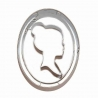 Emporte-piece profil de femme style Camée 9cm - BIRKMANN