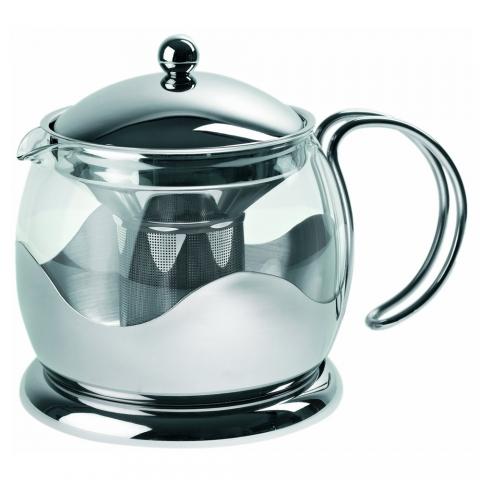 Théière en verre et inox 0,75L - L540