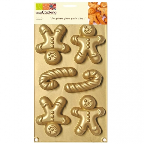 Moule multi Mr Biscuit ScrapCooking