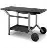 Table roulante acier noir et gris pour planchas TRANG Forge Adour