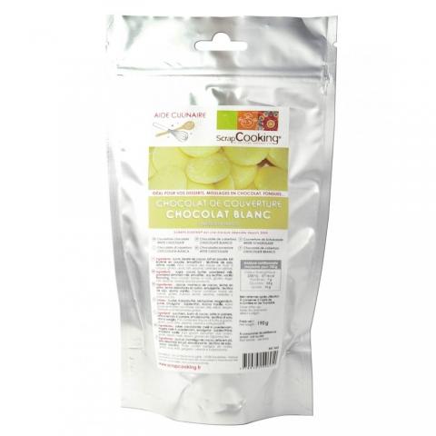 Chocolat blanc de couverture 190 g ScrapCooking