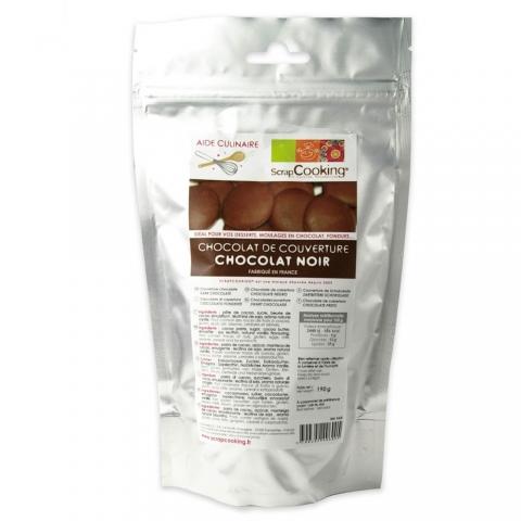 Chocolat noir de couverture 190 g ScrapCooking