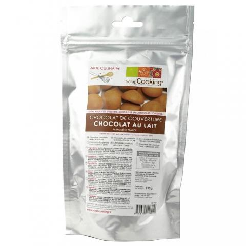 Chocolat au lait de couverture 190 g ScrapCooking