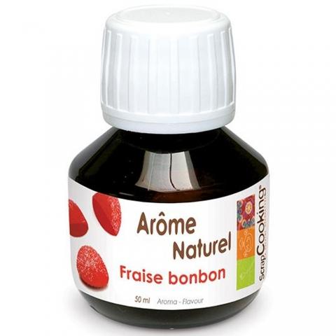 Arôme naturel liquide Fraise Bonbon 50 ml ScrapCooking