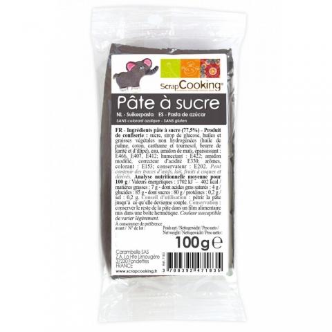 Pâte à sucre Gris 100 g ScrapCooking