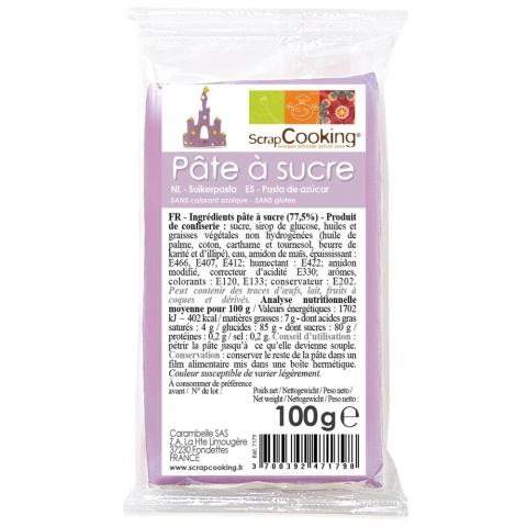 Pâte à sucre Parme 100 g ScrapCooking