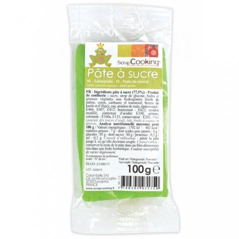 Pâte à sucre Vert Prairie 100 g ScrapCooking