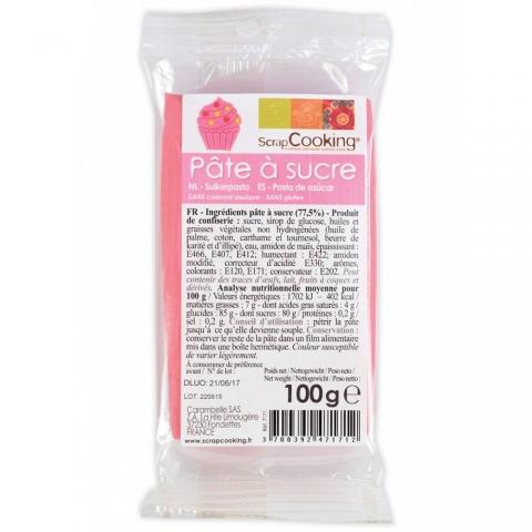 Pâte à sucre Rose 100 g ScrapCooking