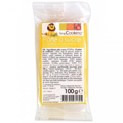 Pâte à sucre Jaune 100 g ScrapCooking