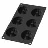 Moule en silicone noir 6 Minis Savarins AD'HAUC