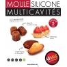 Moule Silicone noir 18 Mini Cannelés AD'HAUC