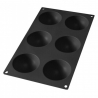 Moule Silicone noir 6 Demi-Sphères AD'HAUC