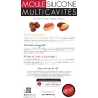 Moule Silicone noir 9 madeleines AD'HAUC