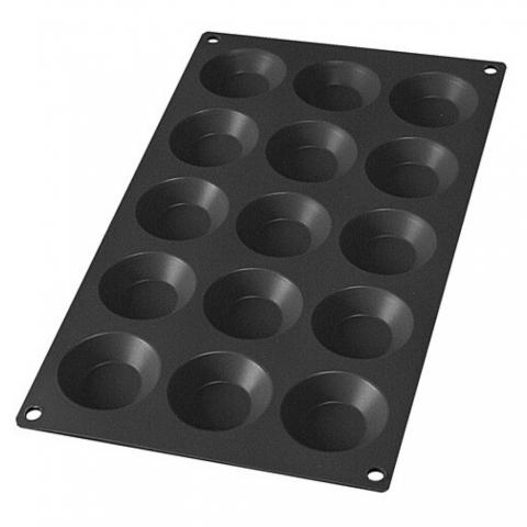 Moule Silicone noir 15 Mini Tartelettes AD'HAUC