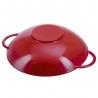 Wok en fonte 37 cm rouge Staub