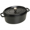 Cocotte ovale en fonte 31cm noir mat Staub