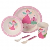 "Set à couverts enfant ""Princesse"" - 5 pcs - bambou"