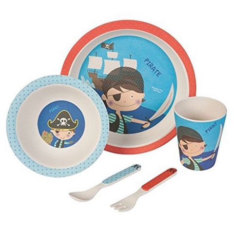 "Set à couverts enfant ""Pirate"" - 5 pcs - bambou"