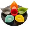 Service apéritif multicolore 256001