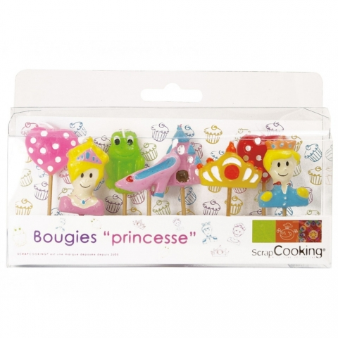 Lot 8 bougies Princesses Scrapcooking 5008