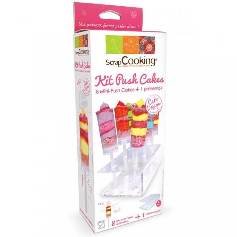 Kit 8 mini push cakes + présentoir Scrapcooking 5162