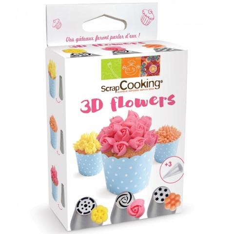 Kit douilles 3D flowers Scrapcooking 1821