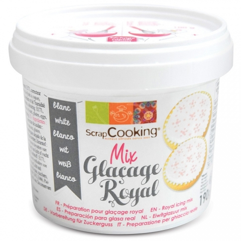 Pot mix glaçage royal blanc Scrapcooking 4610