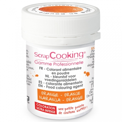 Colorant alimentaire en poudre orange Scrapcooking 4032