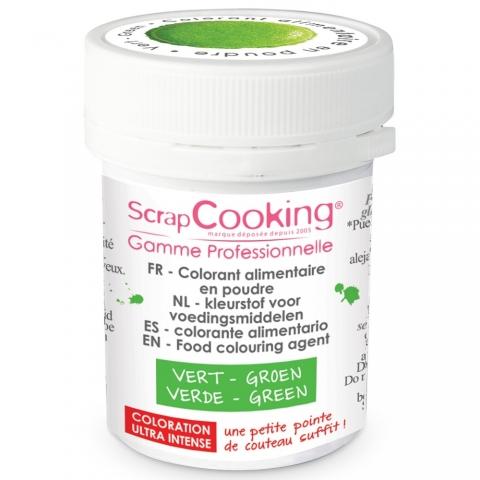 Colorant alimentaire en poudre vert Scrapcooking 4036