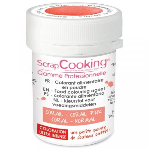 Colorant alimentaire en poudre corail Scrapcooking 4040