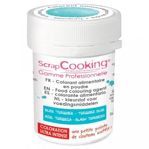 Colorant alimentaire en poudre turquoise Scrapcooking 4041