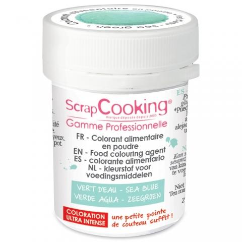 Colorant alimentaire en poudre vert d'eau Scrapcooking 4042
