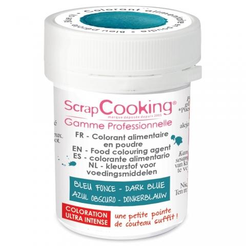 Colorant alimentaire en poudre bleu foncé Scrapcooking 4043