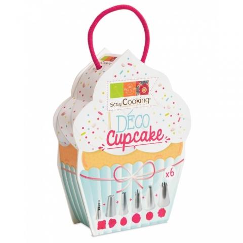 Boîte déco cupcakes 6 douilles Scrapcooking 1825