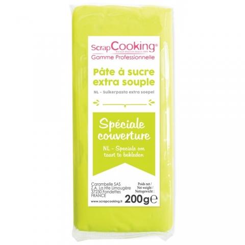 Pâte à sucre de couverture vert citron Scrapcooking 7155