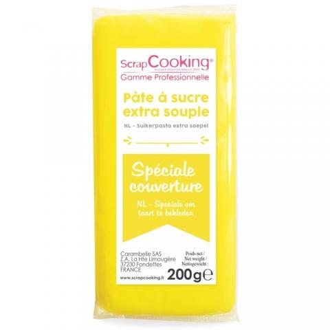 Pâte à sucre de couverture jaune Scrapcooking 7156