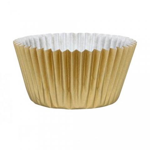 Caissette petit cupcake doré x 45
