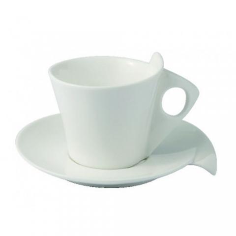 Coffret 6 tasses à café blanches Libra