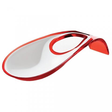Repose cuillère Guzzini bicolore rouge 28560065