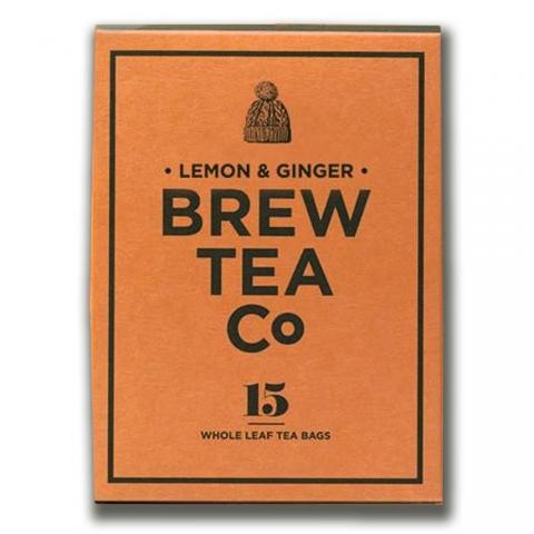 Thé sachets pyramides Lemon Ginger Brew Tea&Co