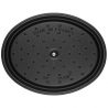 Cocotte ovale en fonte 41 CM noir mat Staub