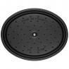 Cocotte ovale en fonte 29 CM noir mat Staub