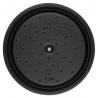 Cocotte ronde en fonte 26 CM noir mat Staub