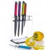 Bloc couteaux acrylique Colourworks Kitchencraft CWKNB25