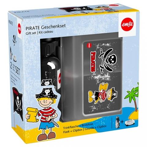 Set gourde / boîte pirate Kids