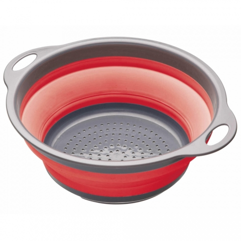 Passoire rétractable rouge ColourWorks Kitchencraft CWGCOLRED
