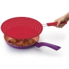 Couvercle anti-projection rouge ColourWorks Kitchencraft CWSPLATTERRED